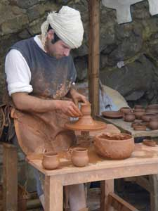 Potter at Medieval Fair inside Dalt Vila, Ibiza, Spain